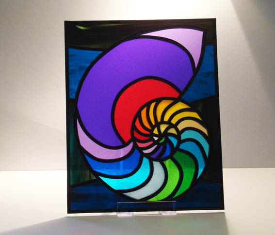 Stained glass shell design