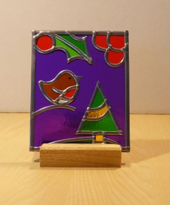 Christmas Scene Stained Glass T-light