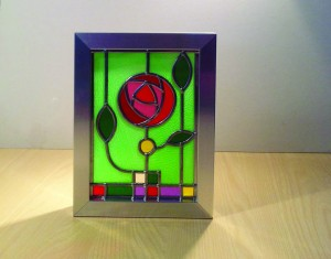 Stained glass Mackintosh style