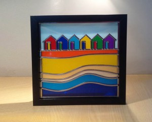 Stained glass beach huts