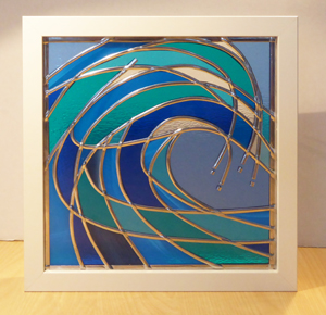 Stained Glass Abstract Wave