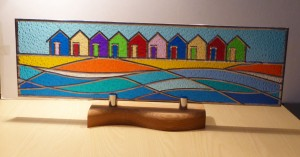 Stained Glass Wavy Beach Huts
