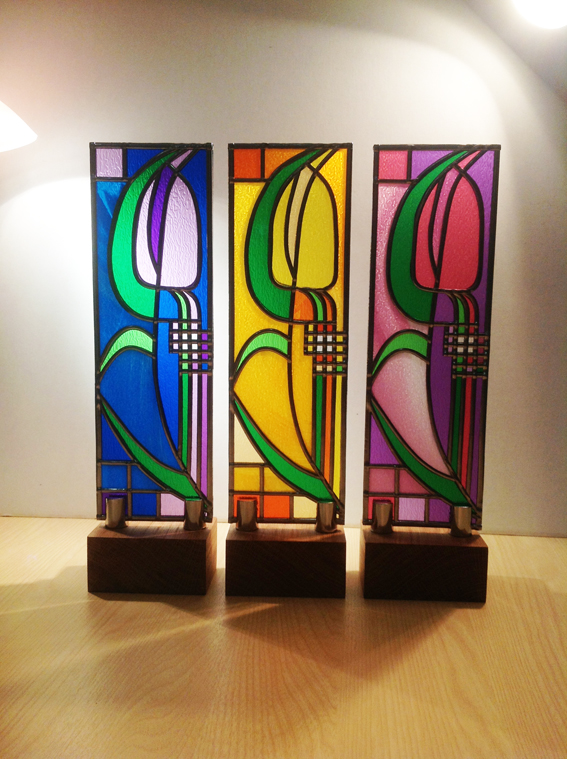 Stained Glass Mackintosh Inspired Designsviv Wilkins Glassart