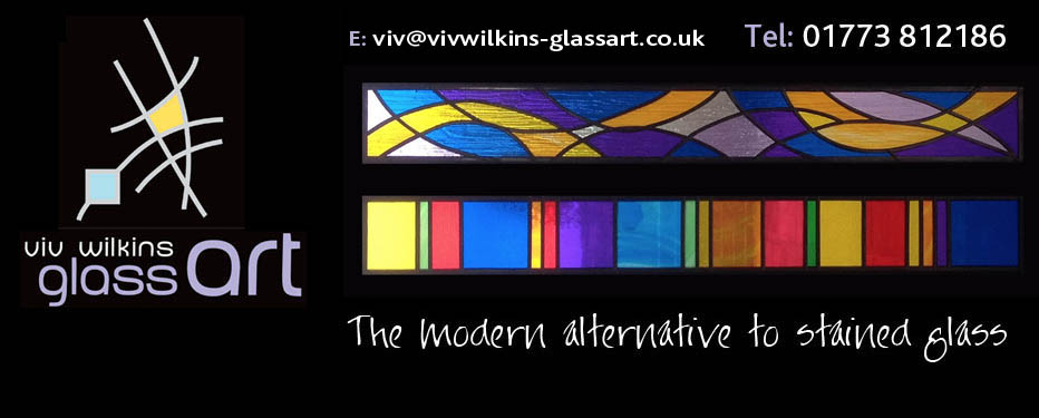 Modern Stained Glass Art Doors Windows Framed Mounted
